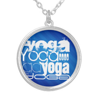Yoga; Royal Blue Stripes.j Personalized Necklace