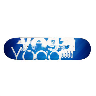 Yoga; Royal Blue Stripes.j 19.7 Cm Skateboard Deck
