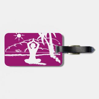 Yoga Scenic Zen Meditation Luggage Tag