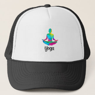 Yoga setting and fitness trucker hat