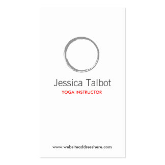 YOGA, SPA, SALON, TRANQUILITY Business Card