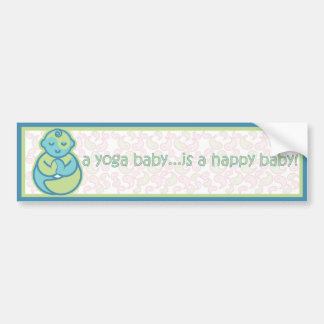 Yoga Speak Baby : Happy Baby Sticker - Blue Bumper Sticker