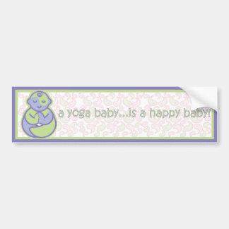 Yoga Speak Baby : Happy Baby Sticker - Purple
