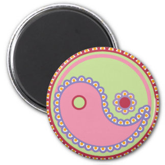 Yoga Speak Baby : Paisley Yin-Yang Magnet