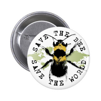 Yoga Speak : Save the Bee ... Save the World! 6 Cm Round Badge
