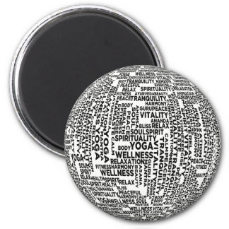 Yoga, Spirituality & Wellness 6 Cm Round Magnet