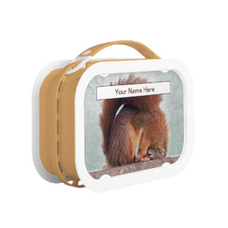 Yoga Squirrel Lunchbox (Enter Your Name)