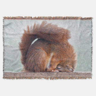 Yoga Squirrel Throw Blanket