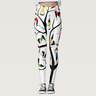 yoga stick fashion family tree colourful leggings