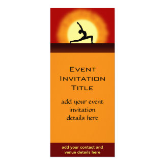 Yoga Sunrise Pose Silhouette Membership Invitation