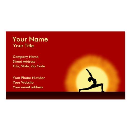 Yoga Sunrise Yoga Teacher Instructor Business Card Business Card