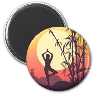 Yoga Sunset Love Magnet