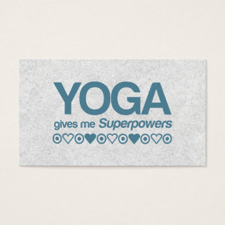 Yoga Superpowers Business Card