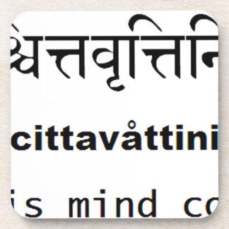 Yoga Sutras of Patanjali : Sanskrit, english, mind Beverage Coaster