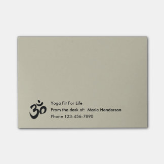 Yoga Symbol Sticky Notepads