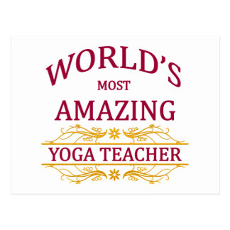Yoga Teacher Postcard