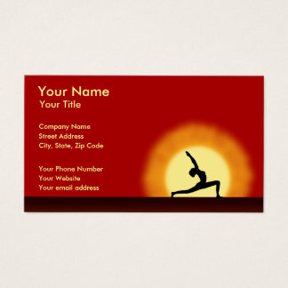 Yoga Teacher Sunrise Pose Horizontal Business Card