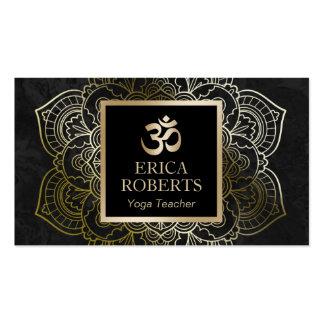 Yoga Teacher Vintage Gold Mandala & Om Sign Pack Of Standard Business Cards