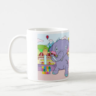 Yoga Teddy Bear & Warrior Elephant Mug