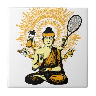 yoga tennis ceramic tile