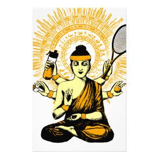 yoga tennis stationery