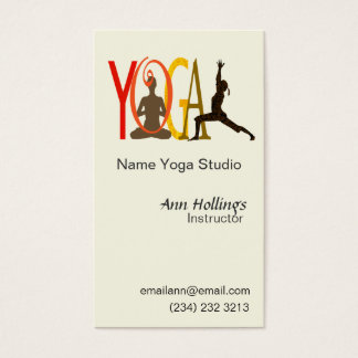 Yoga Text Design Business Card