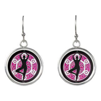 Yoga themed earrings