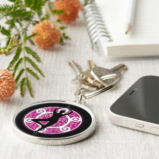 Yoga themed key ring
