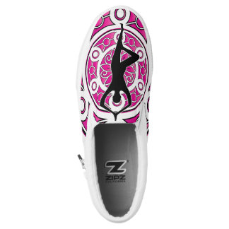 Yoga themed slip on shoes