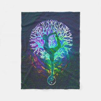 Yoga Tree Aura Fleece Blanket