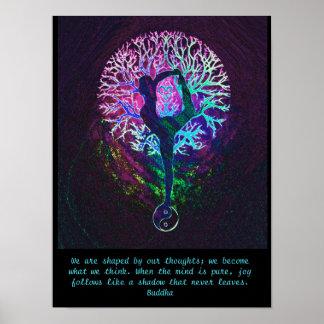 Yoga Tree - Buddha Quote Poster