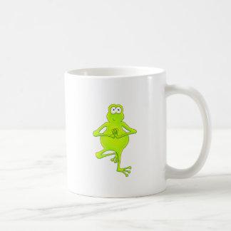 Yoga Tree Frog Basic White Mug