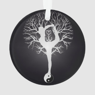 Yoga Tree in Black and White