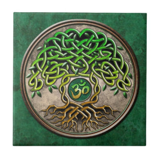 Yoga Tree of Life Ceramic Tile