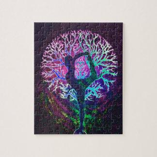 Yoga Tree Peace Rainbow Jigsaw Puzzle