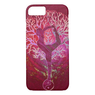 Yoga Tree -  Red, Pink, Gold iPhone 8/7 Case