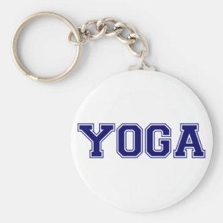 Yoga University Style Basic Round Button Key Ring