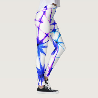 Yoga Webbed Purple and Blue Leggings