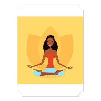 Yoga wellness invitation : dark skin