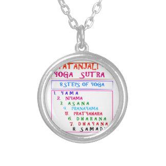 Yoga Wisdom Words Round Pendant Necklace