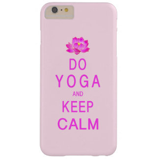 Yoga with Lotus Flower Barely There iPhone 6 Plus Case