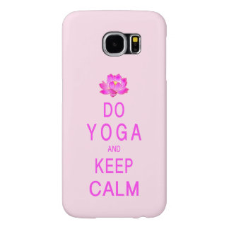 Yoga with Lotus Flower Samsung Galaxy S6 Cases