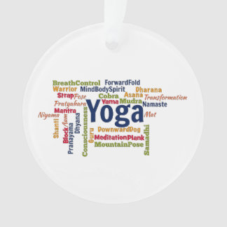 Yoga Word Cloud Ornament