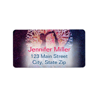 Yoga Yin Yang Tree Address Label
