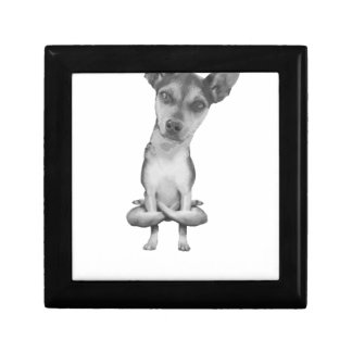 Yogi Doggie cute dog in yoga asana, cool funny Gift Box