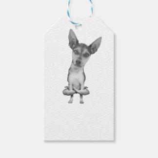 Yogi Doggie cute dog in yoga asana, cool funny Gift Tags