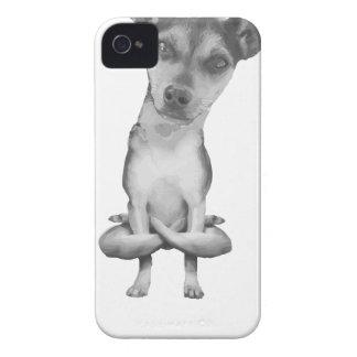 Yogi Doggie cute dog in yoga asana, cool funny iPhone 4 Case-Mate Case