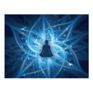 Yogi meditating postcard