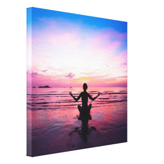 yogi on pink, yoga chakra, heart chakras,healers canvas print