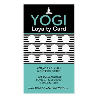 yogi striate stamp card business card templates